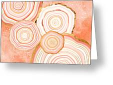 Coral Agate Abstract Greeting Card