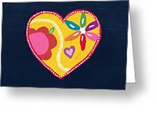 Corazon 4- Art By Linda Woods Greeting Card