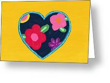 Corazon 5- Art By Linda Woods Greeting Card