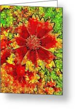 Coreopsis Abstract Greeting Card