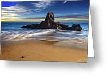 Corona Del Mar Beach Greeting Card