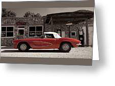 Corvette Cafe - C1 Greeting Card