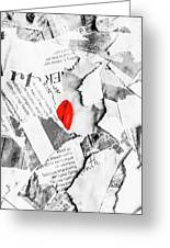Cosmetic Collage Greeting Card