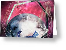 Cosmic Portal Greeting Card by Bee-Bee Deigner