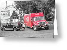 Costa Rica Soda Truck Greeting Card
