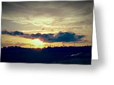 Country Sunset In Pavo Greeting Card