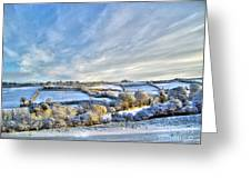Countryside Winter Scene Greeting Card