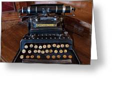 Crandall No3 Typewriter Greeting Card