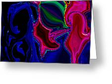 Crazy Abstract Amoeba Greeting Card