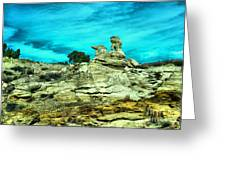Crazy Rock Formations In New Mexico Greeting Card