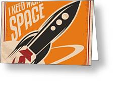 Creative Design Concept With Rocket And Greeting Card