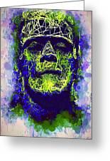 Frankenstein Watercolor Greeting Card