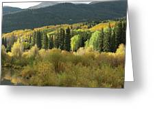 Crested Butte Colorado Fall Colors Panorama - 1 Greeting Card