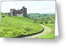 Crighton Castle Ruins, Midlothian Greeting Card