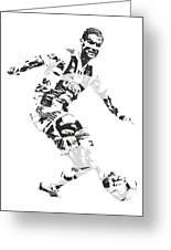 Cristiano Ronaldo Juventus Pixel Art 1 Greeting Card