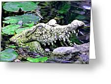 Crocodile Profile. Greeting Card