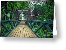Crossing The Kissing Bridge Greeting Card