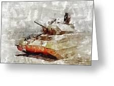 Crusader Tank, World War Two Greeting Card