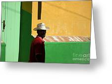 Cuban Man On The Beach Greeting Card