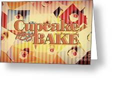 Cupcake Bake 1958 Greeting Card
