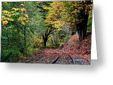 Curved Tracks Greeting Card