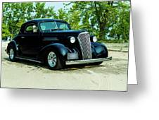 Custom 1937 Chevrolet Coupe Greeting Card