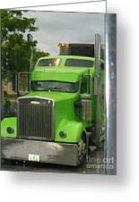 Custom Green Boca Greeting Card