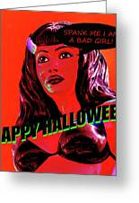 Custom Halloween Card She-devil Greeting Card