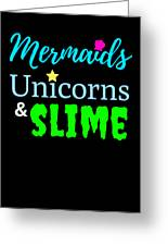 Cute Mermicorn Unicorn Mermaid Slime Birthday Greeting Card