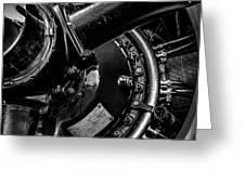 Cyclone Aircraft Engine Greeting Card by Bob Orsillo