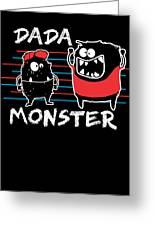 Dada Monster Cute Monster Cartoon For Kids And Dad Dark Greeting Card
