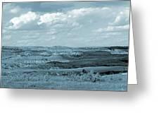 Dakota Grassland Shadows Greeting Card