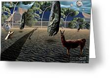 Dali's Llama Greeting Card