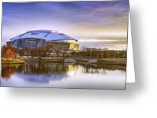 Dallas Cowboys Stadium Arlington Texas Greeting Card by Robert Bellomy
