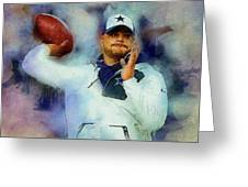 Dallas Cowboys.dak Prescott. Greeting Card