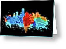 Dallas Neon Color Blast Greeting Card