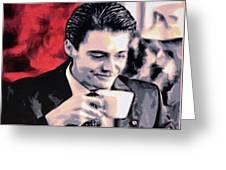 Damn Fine Cup Of Coffee Greeting Card
