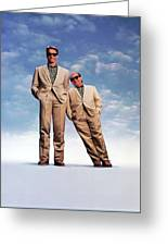 Danny Devito And Arnold Schwarzenegger In Twins 1988 Greeting Card For Sale By Album