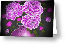 Dark And Delicious Roses In Pink Lilac Greeting Card