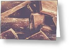 Dark Chocolate Delight Greeting Card