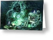 Dark Mage Greeting Card