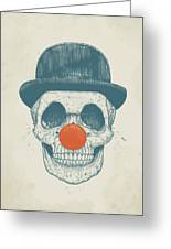 Dead Clown Greeting Card