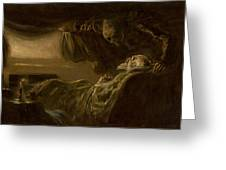 Death Of The Old Man Greeting Card
