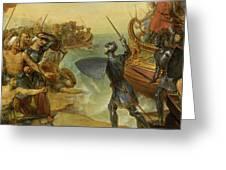 Debarquement De Saint Louis, A Damiette En Egypte, 1249 Greeting Card