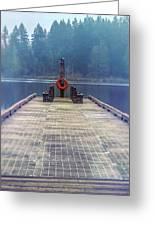 Deep Lake Dock  Greeting Card