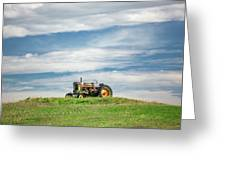 Deere On The Hill Greeting Card