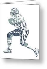 Deion Sanders Dallas Cowboys  Pixel Art 5 Greeting Card