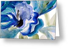 Delicate Blue Square I    Greeting Card