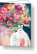 Delightful Bouquet- Art By Linda Woods Greeting Card