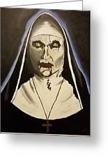 Demon Nun Greeting Card